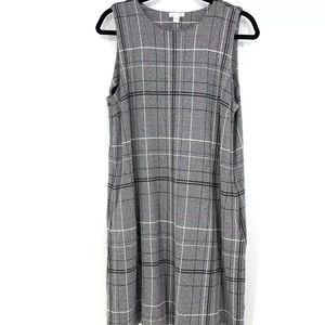 J Jill Ponte Dress Gray Large (741)